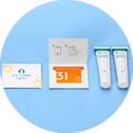 Vagal Nerve Stimulation Refill Kit containing 31 day card, two tubes of gel and instruction leaflet.