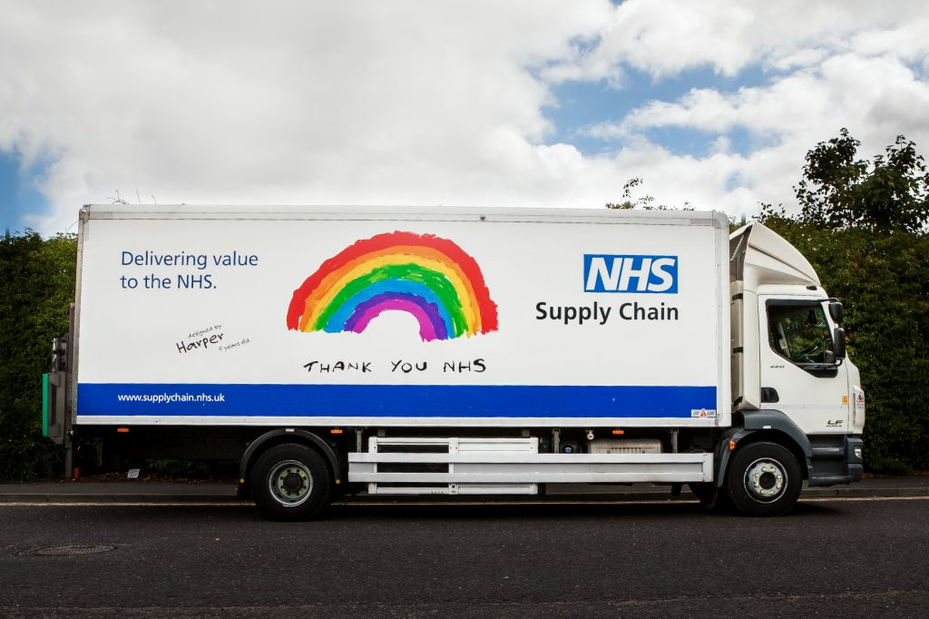 NHS Supply Chain Lorry With Special Livery