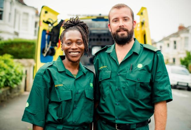 Ambulance Team Wearing Uniforms