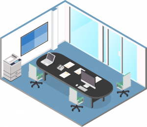 Medical or Healthcare Setting Office - 3D Illustration