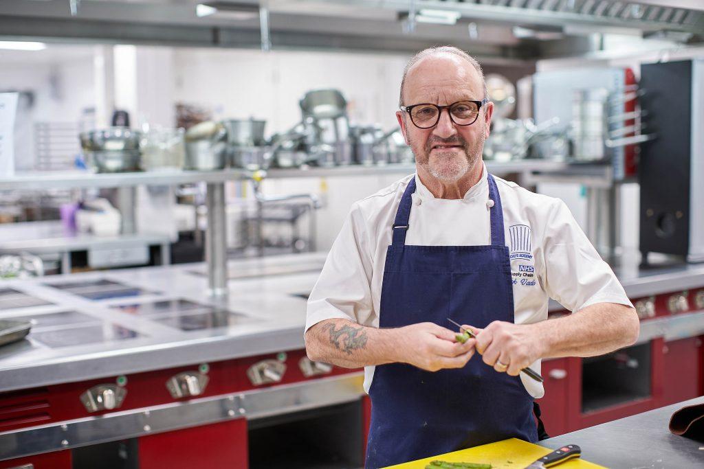 Chef Nick Vadis in kitchen