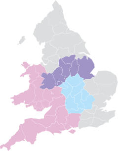 Central and South West map
