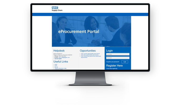 eProcurement System Screenshot