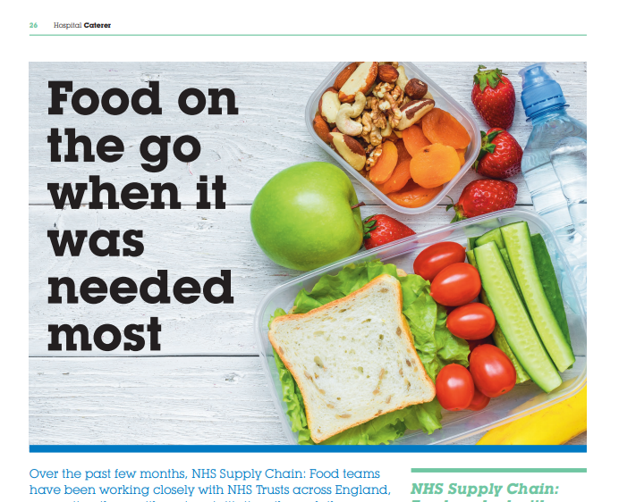 Hospital Caterer News Article About NHS Supply Chain: Food