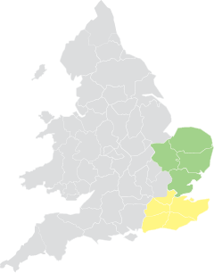 South and East map